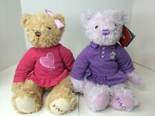 FAO Schwarz Teddy Bears Plush Stuffed Animal LOT Polo Shirts Pink Purple Dress