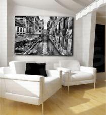 Venice Italy Black and White Art Canvas Poster Fine Print Home Wall Decor