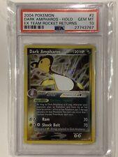 2004 Pokemon EX Team Rocket Returns Dark Ampharos Holo 2/109 PSA 10 Gem Mint