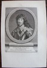 GASTON DE FRANCE DUC D'ORLEANS (1608-1660)