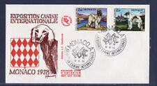 MONACO   enveloppe 1er jour   expo canine  chien  lévrier   barzoi    1978