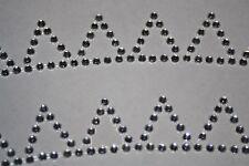 2 Pennants Clear Diamond Rhinestone Gemstone Scrapbooking Stickers Sports 641