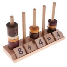 Wooden Montessori Mathematics Materials Kids Educational Toy 76pcs Set