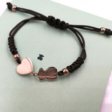 Hot Women Titanium Steel Bear Heart Bangle Charm Bracelet Jewelry