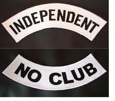 INDEPENDENT NO CLUB BIKER WHITE ROCKER,PATCH SET 11'