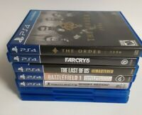 Ps4 Game Lot The Order FarCry 5  The Last one of Us Ghost Recon, Battlefield, 7