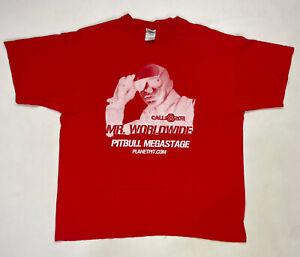 VINTAGE Calle Ocho Miami Music Festival Carnival Pitbull 2011 T-shirt Men XL