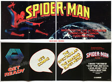 SPIDER-MAN The Movie__Original 1985 Trade AD promo / Poster insert__TOBE HOOPER