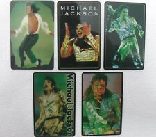 5 SCHEDE TELEFONICHE MICHAEL JACKSON-limited edition 500-TELE2000 COMUNICATIONS