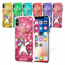 Any Name Unicorn Personalised Phone Case Cover For Apple iPhone Models XS XR 060
