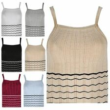 Girls Kids Zig Zag Waves Knitted Top Ribbed Sleeveless Vest Outerwear Tank