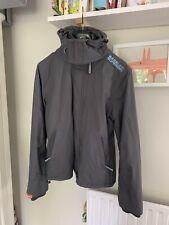 Grey / Blue Superdry Ladies Windcheater jacket - Medium
