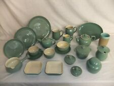 c4 Pottery Denby Bourne - Manor Green - plates cups jugs tea coffee pots - 6D2A