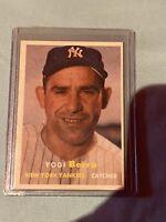 1957 Topps Yogi Berra New York Yankees #2 Baseball Card HOF!! ⚾️⚾️🔥🔥