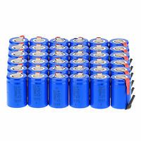 36 x NiCd 4/5 SubC Sub C 1.2V 2200mAh Rechargeable Battery with Tab Blue Color