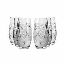 Neman Glassworks, 10-Oz Russian Crystal Beverage Glasses, 6-pc Vintage Set