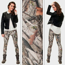 3D Printing Pants Camo Trees Women Leggings Elastic Shiny Sexy Tayt Fitness Pant