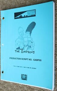 THE SIMPSONS RARE  TV SERIES SHOW SCRIPT EPISODE ON A CLEAR DAY I CAN'T SEE MY