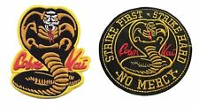 """Karate Kid Movie Cobra Kai Embroidered 3 1/2""""-4"""" Tall Set of 2 Patches"""