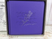 "NEW Creative Memories The Triumph Album 7x7, Purple ""Forget Me Not"" w/ 15 pages"