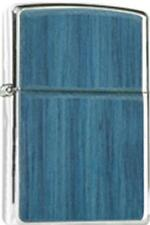 Zippo 250 roseart indigo wood emblem lighter