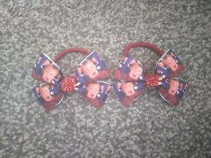 Girls christmas Home alone hair bobbles x 2 paired