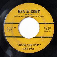 EDDIE BOYD-THANK YOU BABY /I'M COMIN HOME ON BEA & BABY BLUES R&B 45-HEA