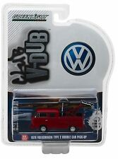 1:64 GreenLight *CLUB V-DUB R5* RED 1976 VW Double Cab LADDER FIRE TRUCK NIP!