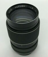 PRINZFLEX AUTO REFLEX F-135mm 1:3.5 LENS WITH LEATHER CASE