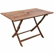 vidaXL Solid Acacia Wood Outdoor Dining Table Patio Terrace Garden Furniture