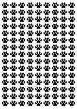 PAW PRINTS Dog Cat (Small) A5 Sheet 13mm 135 per sheet BLACK