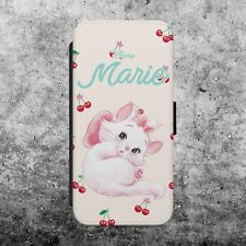 MARIE CAT FLUFFY CUTE FLIP WALLET PHONE CASE COVER FOR iPhone SAMSUNG