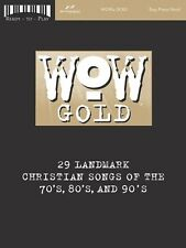 """""""WOW-GOLD"""" EASY PIANO/VOCAL-READY-TO-PLAY CHRISTIAN MUSIC BOOK-BRAND NEW ON SALE"""