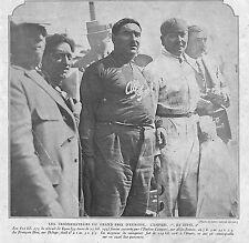 CAMPARI ALFA-ROMEO DIVO BENOIST DELAGE CIRCUIT DE LYON ILLUSTRATIONS 1924