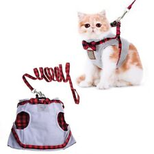 Cat Bowknot Decor Vest Harness Traction Kit Pet Outlet Leash Lead Clothing r