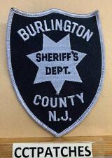 BURLINGTON COUNTY, NEW JERSEY SHERIFF (POLICE) SHOULDER PATCH NJ