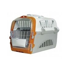 Large Cat Carrier Pet Dog Box Basket Travel Airline Approved Safety Plastic New