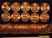 1974-P Lincoln cent - 2  BU Uncirculated rolls ( 100 coins )