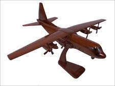 C-130 Hercules 4 Bladed Props Handcrafted Natural Premium Wood Desk Model