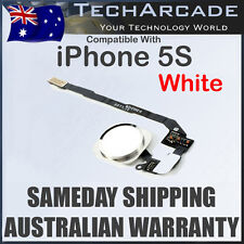 iPhone 5S Home Button Flex Cable Finger Fingerprint Scanner Sensor Silver White