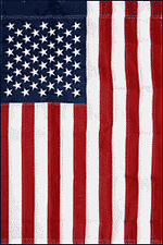 "American 43.5"" x 28.5"" Nylon Banner Sleeve Flag Sewn Stripes Embroidered Stars"