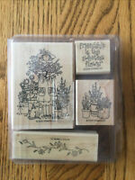 2000 Stampin Up Friendship is the Sweetest Flower Set of 4 Stamps New