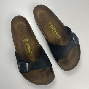 Birkenstock Black Arizona Sandal Slips Size 40 Mens 7 Ladies 9