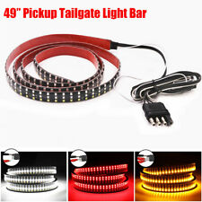 "49"" Pickup Triple Row 324 LED 3 Colors Tailgate Light Bar 5 Functions Waterproof"
