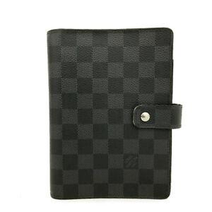 Louis Vuitton Damier Graphite Agenda MM Notebook Cover /A0826