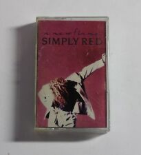 SIMPLY RED A New Flame CASSETTE Elektra Rec 9-60828-4 US 1989 VG+