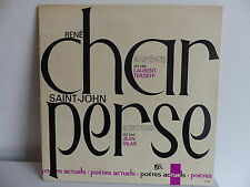 RENE CHAR dit par LAURENT TERZIEFF SAINT JOHN PERSE dit par JEAN VILAR 10047
