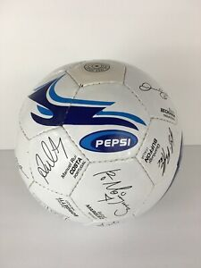 Pepsi World Cup International Players From Teams Faux Signed Soccer Ball Beckham