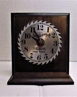 Vintage Sears Roebuck Co Craftsman Battery Powered Saw Blade Shop Clock Wood
