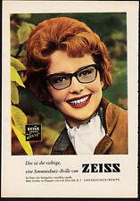 3w1871/ Alte Reklame von 1960 - Sonnsnschutz-Brillen von ZEISS - Oberkochen